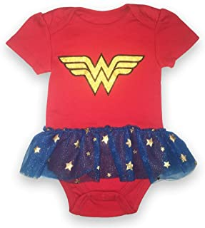 comprar comparacion Wonder Body de Manga Corta para Mujer - DC Comics bebé niñas Wonder Mujer Tutu Bodysuit - Rojo - 6-9 Meses