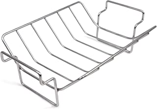 Mydracas BBQ Rib Rack for Smoking and Grilling Roast Rack 100% Stainless Steel,Roast and...