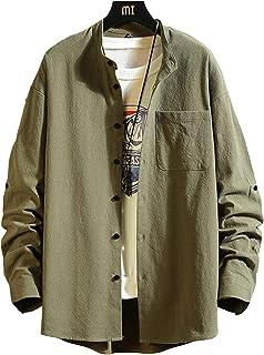 [クーパーアンドコー]3カラー M~2XL 無地 シャツ カジュアル シンプル 長袖 ボタン 羽織 ファッション メンズ