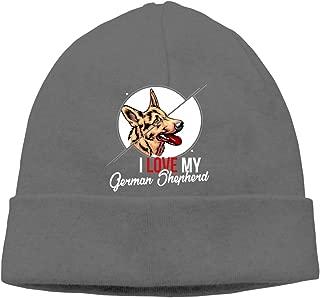 I Love My German Shepherd Beanie Cap Ski Hats Men&Women Slouchy Soft