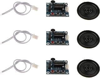 KESOTO ISD 1820音声録音再生モジュール 3セット オーディオ マイク付 サウンドレコーディングモジュール