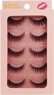 1c519ee5c3c 5 Pairs 3D Mink False Eyelashes Extension Long Lashes Natural Cross Thick  Long Soft Fake Eyelash