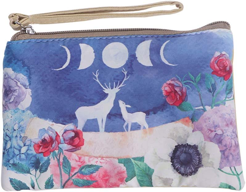 Women's Animal Canvas Coin Purse Year-end annual account Zipper Cash Raleigh Mall Wallet Pouch Change