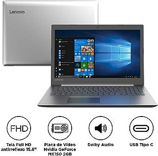 "Notebook Lenovo IdeaPad 330 i7-8550U 8GB 2TB MX150 Windows 10 15, 6"" FHD 81FE000PBR Prata, Lenovo, IdeaPad 330, Intel Core i7, 8 GB RAM, HD HD 2000(GB) GB, hd, Tela 15.6"", windows_10"