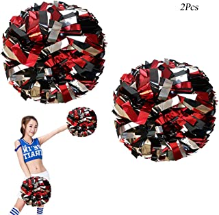 cheering with pom poms