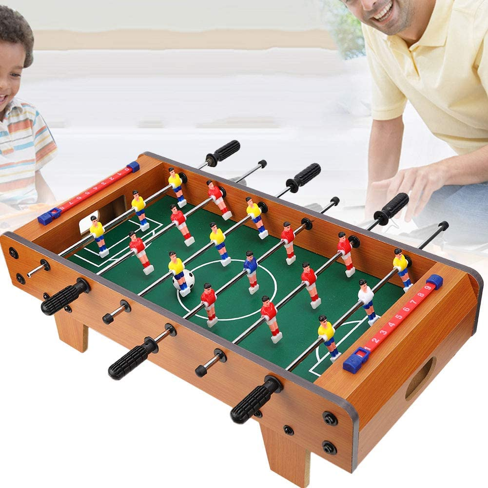f/êtes 1# mini-table de jeu de football en bois portable avec jeux de football//jeu de football pour salles de jeux de jeux de baby-foot r/écr/éatifs Table de baby-foot de table bars soir/ée arcades
