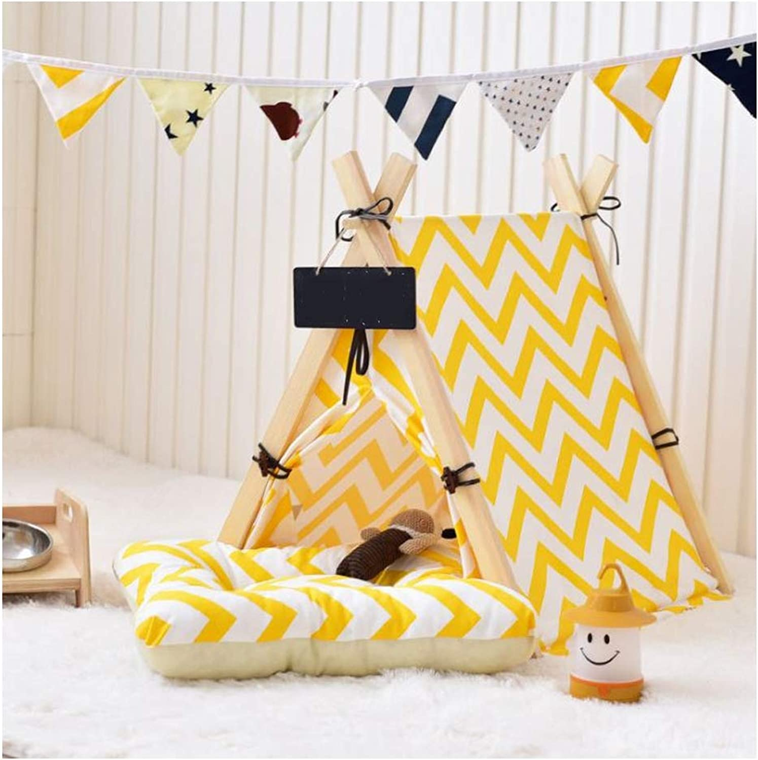 GDDYQ Pet Bed, Pet Indoor Game Tent Suitable for Cats and Dogs to Play and Rest Easy to Install, There are Many Options,Tent,S