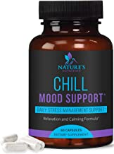 Stress Support Supplement 1000mg, Natural Herbal Formula for Calm, Positive Mood, Relaxation - Made in USA - with Ashwagan...