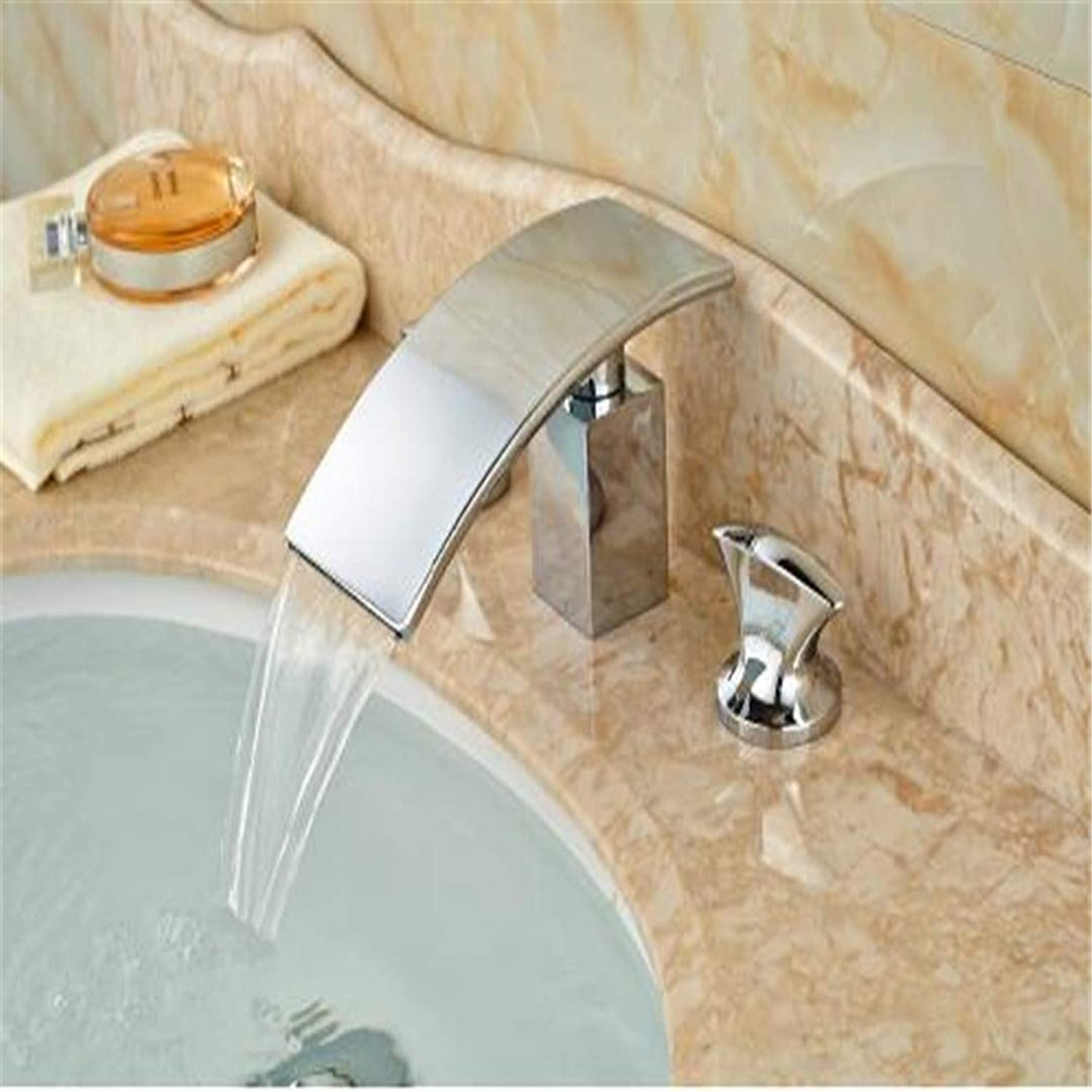 Taps Kitchen Faucet Bathroom Taps Faucet Waterfall Tapluxury Waterfall Chrome Brass Bathroom Basin Faucet Deck Mounted