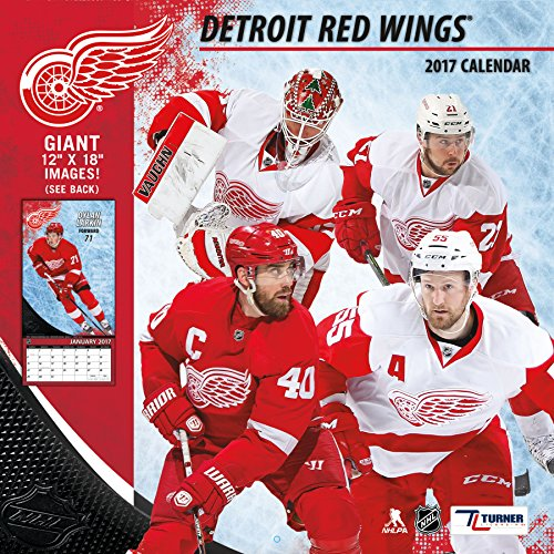 "Turner Licensing Sport 2017 Detroit Red Wings Team Wall Calendar, 12""X12"" (17998011940)"