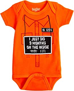 Sara Kety Funny Baby Romper Bodysuit 9 Months on The Inside Jail Jumpsuit for Newborn Girls and Boys