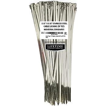 Gardner Bender 45-306SS Stainless Steel Cable Tie GARDNER BENDER INC Wire // Cord Management Industrial and Household Use Tensile Strength 100 lb Metal Zip Tie 10 Pk 6 Inch.