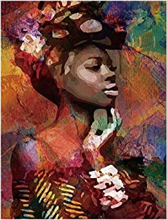 lightclub Canvas Painting African Woman Lady Picture Poster Wall Office Living Room Decor Nordic Wall Posters & Prints Wall Paintings 1# 5070cm