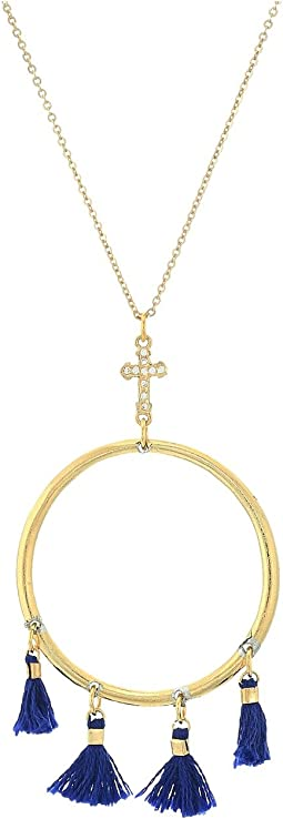 Vanessa Mooney - The Demi Tassel & Cross Hoop Necklace