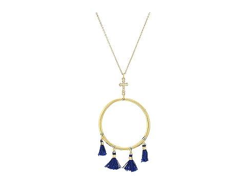 VANESSA MOONEY The Demi Tassel & Cross Hoop Necklace, Gold