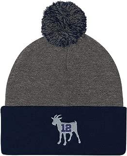 Tom Brady Greatest of All Time Goat Pom Pom Knit Cap