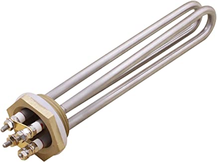 Aiicioo 48v 1500w Elemento de Calefacción Material de Acero Inoxidable Grado Alimenticio Resistencia para Calentador 1.25