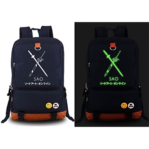 Siawasey Japanese Anime Cartoon Cosplay Luminous Laptop Daypack Backpack Shoulder School Bag
