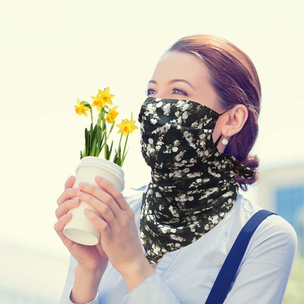 2 or 4 or 6 PCS Women Face Scarf Mask Chiffon Face Covers Sun Proof Neck Gaiter Balaclava