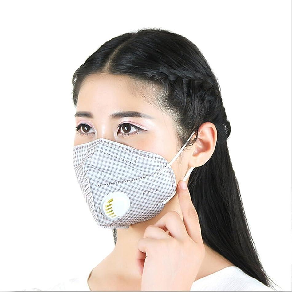 PM2.5 Masks Mouth-muffle with Filter Dust Mask Respiratory Valve Anti Haze Pack of 3pcs (Lattice)