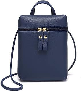 2019 Summer candy colour PU Female bag Double zipper head Mobile phone bag Solid