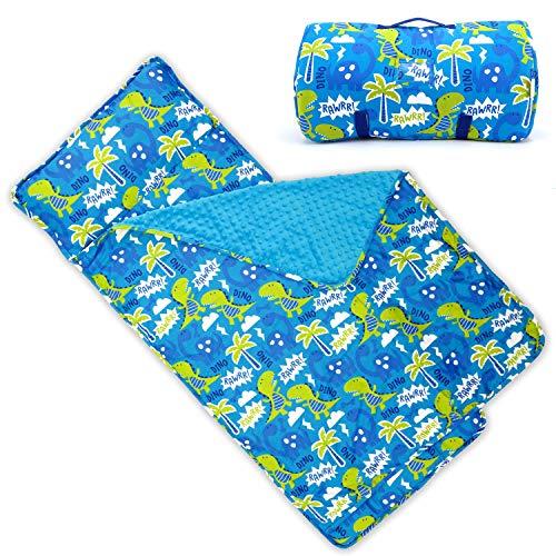 Bambino Bliss Kinder-Schlafmatte mit herausnehmbarem Kissen – weiche, leichte Matte, leicht zu reinigen, für die Vorschule, Kindergarten, Schlafsack