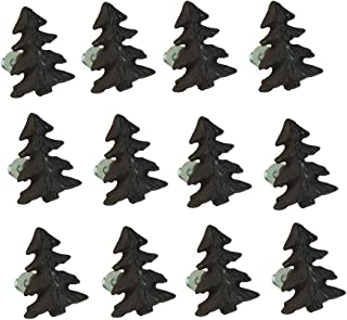 Zeckos Rustic Brown Woodland Pine Tree 12 Piece Cast Iron Drawer Pull Set