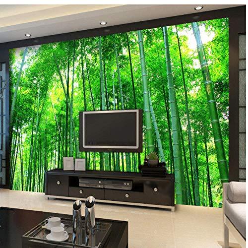 Bamboe bos landschap muurschildering behang 3D patroon Home woonkamer slaapkamer kinderkamer club decoratie kunst afneembare sticker foto muursticker (W) 400 x (H) 280 cm