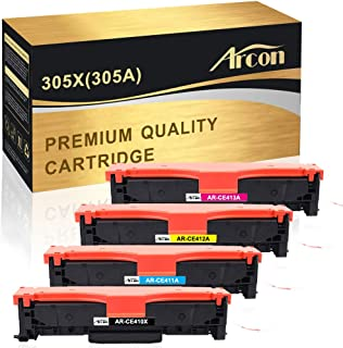 Arcon Compatible Toner Cartridge Replacement for HP 305A 305X CE410X CE411A CE412A CE413A for Laserjet Pro 400 Color MFP M451dn M451nw M475dn M475dw M451dw M375nw (Black, Cyan, Magenta, Yellow)