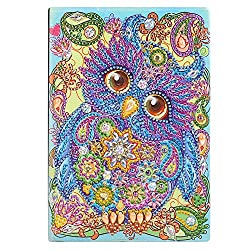 Owl Rarembellish Shaped Diamond Painting Drawing Notebook