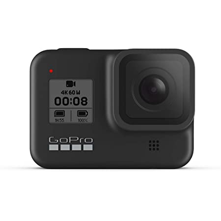 GoPro HERO8 Caméra Numérique Embarquée Étanche avec Écran Tactile, Vidéo HD 4K, Photos 12 MP, Diffusion en Direct et Stabilisation Intégrée