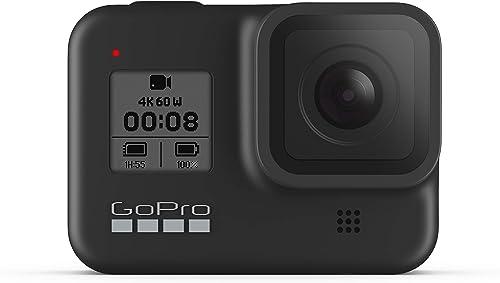 GoPro HERO8 Black - Fotocamera digitale impermeabile 4K con stabilizzazione ipersfondata, touch screen e controllo vo...