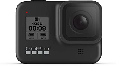 GoPro HERO8 Waterproof Action Camera with Touch Screen 4K Ultra HD Video 12MP Photos 1080p Live Streaming Stabilization - Black