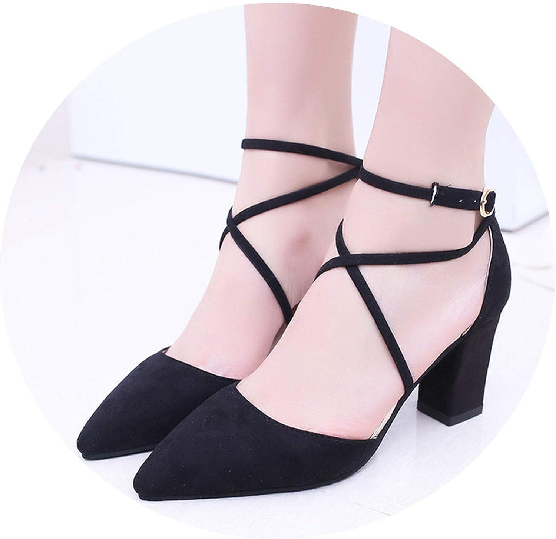Sandalias Flock Pointed Sandals Sexy high Heels Female Summer shoes Female Sandals
