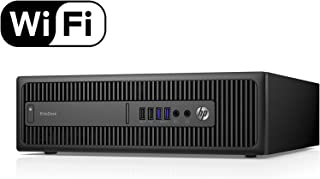 HP EliteDesk 800 G1 Small Form Desktop Computer Tower PC (Intel Quad Core i5-4570, 16GB Ram, 240GB Brand New Solid State SSD, WIFI) Win 10 Pro (Renewed) Dual Monitor Support HDMI + VGA