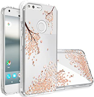 Google Pixel XL Case,Topnow [Anti-Scratch PC + Shockproof Anti-Drop Soft TPU] Advanced Printing Pattern Phone Cases Glossy Drawing Design Cover for Google Pixel XL(Falling Plum)