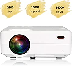 $89 Get KATA(Upgraded Version) Portable Multimedia 4-inch LCD TFT Video Projector Supports 120'' 720P/1080P,360-Degree Image Flip,40,000 Hrs LED Full HD Video Projector,Compatible with HDMI,USB,SD,VGA,AV