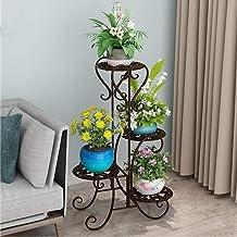 ZXHDND Flower Stand Flower Stand Iron Retro 4 Layer Flower Pot Plant Stand Metal Garden Terrace Stand Plant Flower Pot Sta...