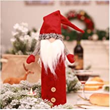 Isa Faceless Doll Champagne Bottle Set Embroidery Santa Claus Doll Christmas Decoration Supplies,Red