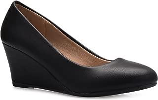 Olivia K Women's Adorable Low Wedge Heel Shoe - Easy Low...