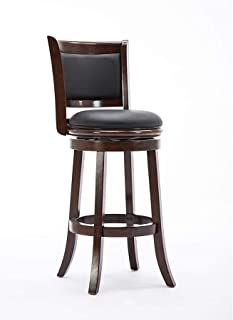 Boraam Augusta Bar Height Swivel Stool, 29-Inch, Cappuccino