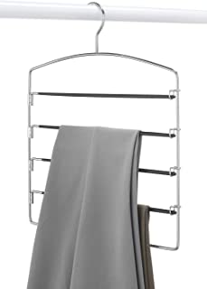 Ivanic 5 Tier Steel Hanger for Wardrobe, Sarees, Pants, Scarfs & Other Clothes (One Hanger)