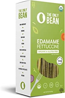The Only Bean - Organic Edamame Fettuccine Pasta, Gluten Free Noodles (8oz) (1 Pack)