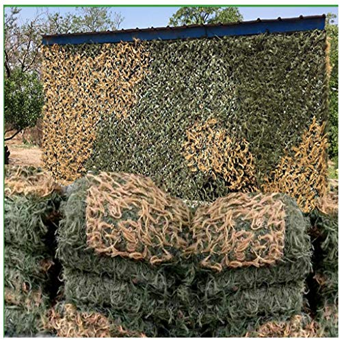Awning zeildoek 3ftx5ft Camouflage Pine Needle Live Action CS Field Game Simulatie Slaapkamer Decoratie Outdoor Fotografie Jagen Zonnebrandcrème Zonneschaduw Militaire Woodland Camouflage Net Verborgen
