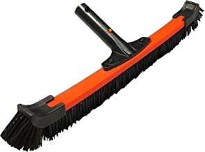 Daveyspa Light 18'' Handle Poly Carbon Material Swimming Pool Brush PP Bold Brush Wall, Tile and Floor Curved Cleaning Brush, Removable on Both Sides