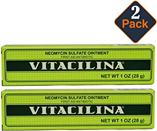 Vitacilina Neomycin Sulfate Ointment First aid antibiotic 1 oz 2 PACK