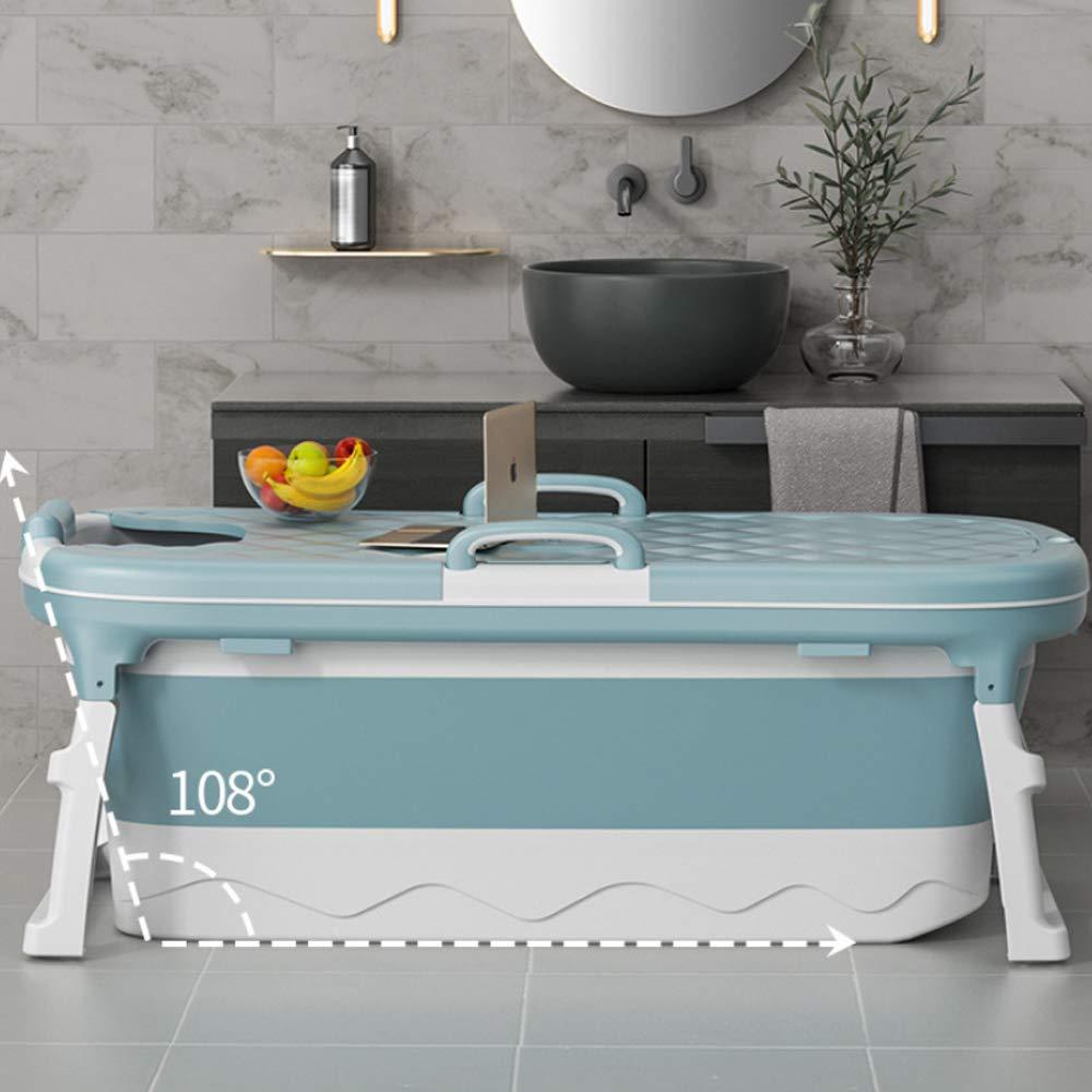 XCNB Portatile Pieghevole Vasca da Bagno Adulto Bambini Nuoto Piscina Vasca da Bagno Grande Cottura a Vapore e Ammollo Y//Moran Blue 115cm