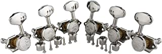 Guyker 6Pcs Guitar Locking Tuners (3L + 3R Handed) - 1:16 Open Gear Tuning Key Pegs Machine Heads with Butterbean Knobs Re...