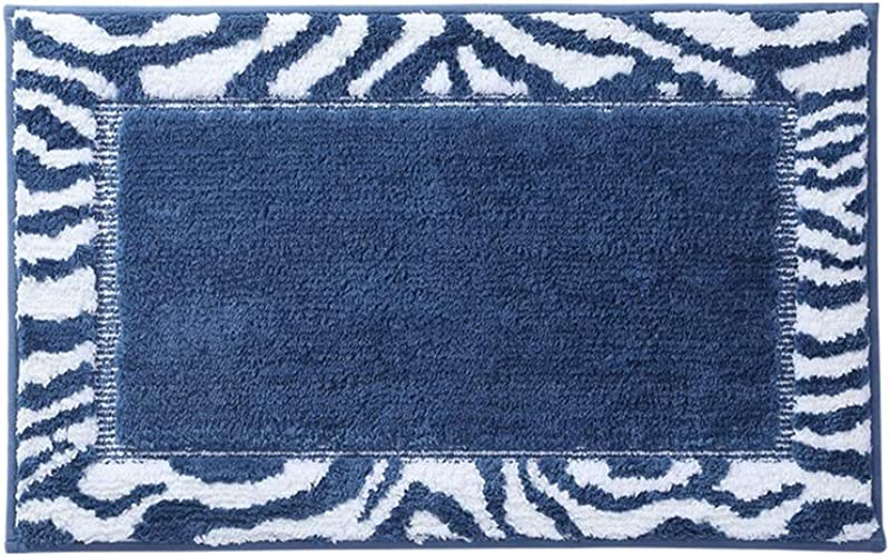YANGBM Water Absorbent Non Slip Thick Rug Bathroom Door Mat Used In The Living Room Study Under The Swivel Chair Color A Size 50cm 80cm
