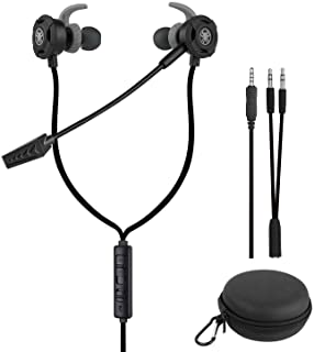 BlueFire Gaming Earbuds, Gaming Earphone with Mic, Noise Cancelling Stereo Bass with Portable Bags for PS4, New Xbox one, ...